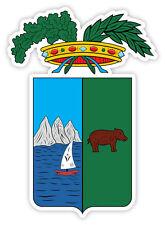 Pescara stemma coat of arms Italy provincia etichetta sticker adesivo 9cm x 13cm