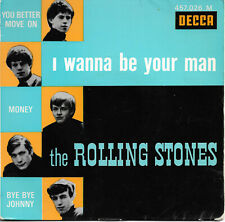 "THE ROLLING STONES I Wanna Be Your Man 7"" EP 1964 Pop Rock Beat Decca"