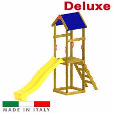 Parco giochi Torre Luna Singola con tetto + Scivolo giochi per giardino