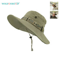 Men Sun Protection Hats Bucket Boonie Hat Military Hunting Fishing Golf Army Cap