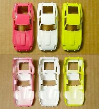 3pc 1982 TYCO Datsun 280-ZX 280Z Nissan Slot Car CUSTOM PAINTED + BODY noWS/Wing