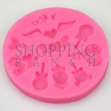 Lolly Summer Heart Love Silicone Mould Cupcake Cake Topper Decoration Mold