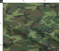 Camo Erdl Camouflage Camping Solider Nursery Fabric Printed by Spoonflower BTY
