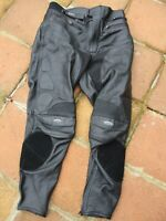 "MEN'S SCOTT LEATHERS SIZE 36"" WAIST BLACK MOTORCYCLE LEATHER SPORT TROUSERS"