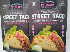 Urban Accents Plant Based Chipotle STREET TACOS 2 packs Vegetarian Gluten free