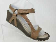Teva Cabrillo Sandal Size 8 Womens Brown Leather Wedge Shoes