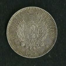 Argentine : 10 Cents / Centavos Argent 1883 ; Qualité