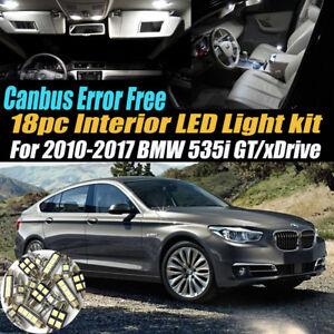 18Pc Error Free Interior LED White Light Kit for 2010-2017 BMW 535i GT/xDrive
