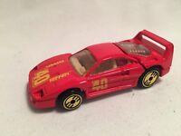 1988 HOT WHEELS FERRARI F40 RED 1:64 DIECAST CAR WITH OPENING HATCH GOLD WHEELS