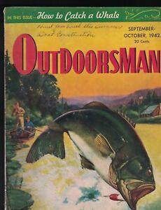 Outdoorsman Magazine October 1942 Edwin Bolenbaugh How to Catch a Whale