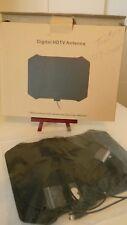 Flat Digital HDTV Indoor TV Antenna Dipole, Full 1080p HD - black