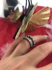 2 Vintage Sterling Silver 925 Wedding Band Ring 8.7Grams Sz 6