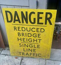 More details for london transport sign danger single line traffic