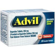 Advil Film-Coated Ibuprofen 200 mg Tablets 20 Each