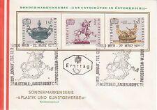 Österreich 1971: FDC Plastik und Kunstgewerbe SSt. 1150 Wien