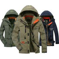 Herren Winter Arbeitsjacke Cargo Jacke Stehkragen Ubergangsjacke Mantel Outwear