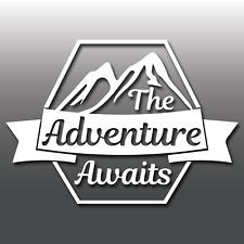 The Adventure Awaits Car Caravan Campervan Motorbike Laptop Vinyl Decal Sticker