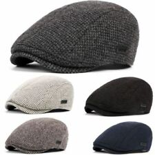 Men Warm Cotton Knitted Gatsby Cap Driving Flat Hat Cabbie Beret Newsboy Ivy Hat