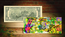 BOLT 2016 RIO OLYMPICS JAMAICAN SPRINTER Rency Banksy Art AUTHENTIC U.S. $2 Bill