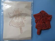 fairy angel unmounted rubber stamp