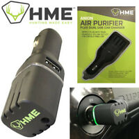 HME 12V Air Purifier Car Plugin w/ Dual USB Ports Smell Remover Vehicle APUR