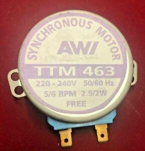 MICROWAVE TURNTABLE MOTOR TTM463 M2LJ50ZA02 5/6RPM 220/240V 50HZ