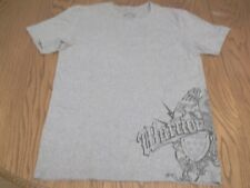 WARRIOR BRAND LACROSSE PHOENIX SHIELD ATHLETIC T-SHIRT--ADULT LARGE--GRAY S/S