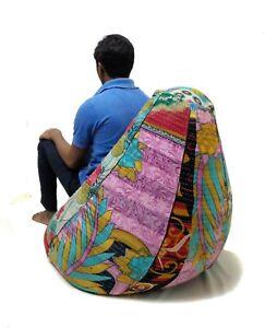 Handmade vintage Cotton Floral Bohemian Home & Living Bean Bag Chairs BD39