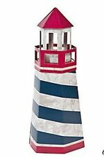 1 Wedding Centerpiece Rustic Lighthouse Red White Blue Nautical Baby Beach Party