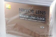 Nikon NIKKOR 80th Anniversary Lens Clock Not for sale Rare New (#1086)