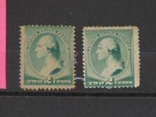 US SCOTT# 213, 1 MINT GUM DIST., 1 MINT HINGED