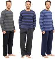 Mens Tom Franks Cotton Jersey Pjs Set Long Sleeve and Leg Striped HT339 Pyjamas