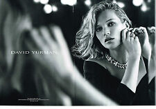 PUBLICITE ADVERTISING 025  2014  DAVID YURMAN   joaillier KATE MOSS ( 2p)