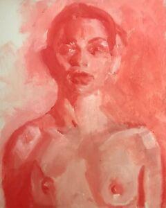 Original Oil Painting Nude Woman Figure by Jeffrey Lloyd Barnes Artist of Life