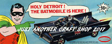 Aurora Batman Batmobile 1966 Poster Leaflet Advert Sign Flier Fantastic Reprint