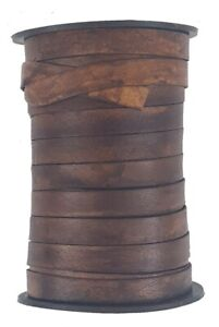 Brown flat Leather cord 10 mm wide x 1 mm thick