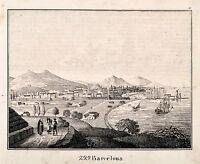 Barcelona Spain Original Lithograph 1831 aus Bildergalerie für die Jugend 799
