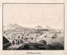 Barcelona Spain ORIGINALE litografo Tipografo 1831 da Galleria di immagini per la gioventù 799