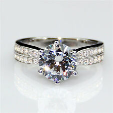 2ct Diamond Solitaire Engagement Ring Any Size Platinum Never Tarnish 950 Finish