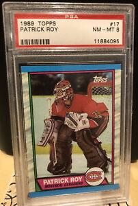 1989 Topps #17 Patrick Roy PSA 8 NR MT HOF Canadiens Vintage Graded Hockey NHL