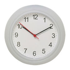 NEW IKEA RUSCH  WHITE WALL CLOCK, BATTERY OPERATED