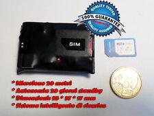 Microspia GSM ascolto ambientale microfono cimice spy BATTERIA 20 GIORNI!