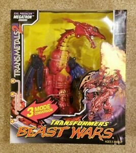 Transformers Beast Wars Transmetals 2 Megatron Dragon Action Figure MIB