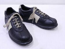 Camper Women's 39 9 Black Leather Bicycle Toe Sneakers Lace-Up Shoes Oxfords