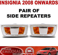 VAUXHALL INSIGNIA PAIR SIDE REPEATERS WING INDICATORS BOTH SIDES CDTI SE EXLUSIV