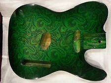 Paisley Tele Style guitar body for Telecaster Replacement Green, by Miller