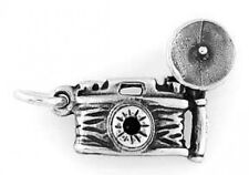 STERLING SILVER VINTAGE STYLE FLASH 35mm CAMERA CHARM