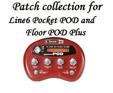 Patches - Tones for Line6 Line 6 Pocket POD and Floor POD Plus -  690+ files!!