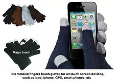 MEN'S TEXTING TOUCH SCREEN GLOVES FOR  IPAD, IPHONE, SMART PHONE, GPS* BLACK*NWT
