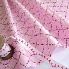 BABY PINK - LAURA TRELLIS - COTTON FABRIC per m  VINTAGE SHABBY FLORAL CHIC